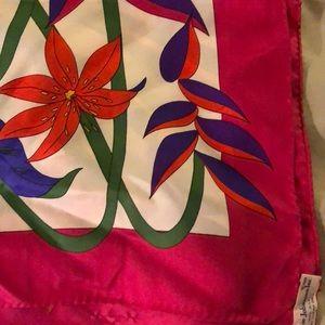 Vintage Ginnie Johansen Inc silk scarf
